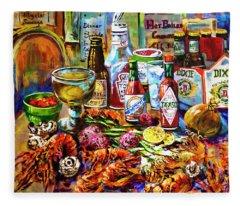 La Table De Fruits De Mer Fleece Blanket