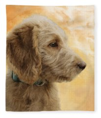 Labradoodle Puppy Fleece Blanket