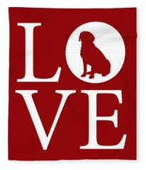Labrador Love Red Fleece Blanket
