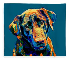 Labrador Retriever Of Many Colors Iv Fleece Blanket
