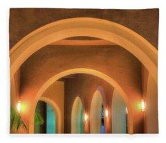 Labyrinthian Arches Fleece Blanket