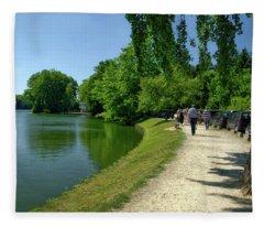Lac De Genval Fleece Blanket