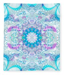 Lacy Mandala Fleece Blanket