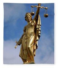 Lady Justice In Bruges Fleece Blanket