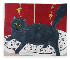 Lady Kitty Fleece Blanket