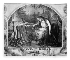 Lady Liberty Mourns During The Civil War Fleece Blanket