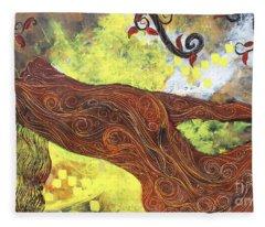 Lady Of Elation Fleece Blanket
