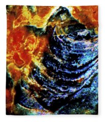 Lady Of The Shell Fleece Blanket