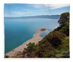 Lagoon Of Tindari On The Isle Of Sicily  Fleece Blanket