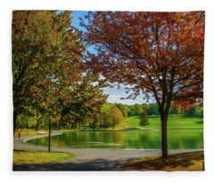Lagoon Park In Montreal Fleece Blanket