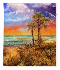 Laguna Beach At Sunset Fleece Blanket