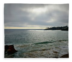 Laguna Beach Sunset Fleece Blanket
