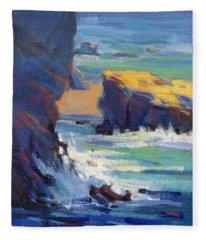 Laguna Rocks Fleece Blanket