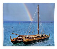 Lahaina Harbor Fleece Blanket