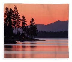 Lake Almanor Twilight Fleece Blanket