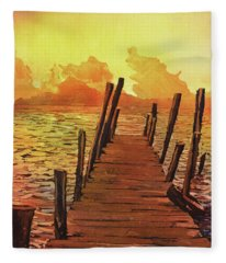 Lake Atitlan- Guatemala Fleece Blanket