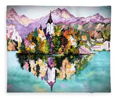 Lake Bled - Slovenia Fleece Blanket