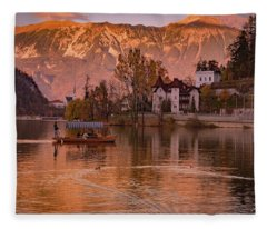 Lake Bleed Fleece Blanket