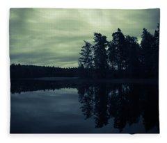 Lake By Night Fleece Blanket