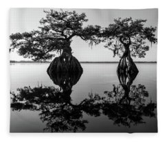 Lake Disston Old Couple Fleece Blanket