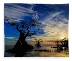 Lake Disston Sunset Fleece Blanket