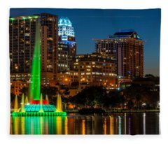 Lake Eola Fountain Fleece Blanket