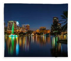 Lake Eola Orlando Fleece Blanket