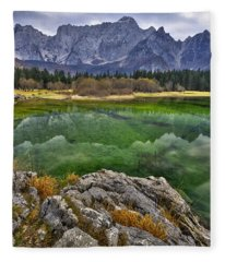 Lake Fusine Fleece Blanket