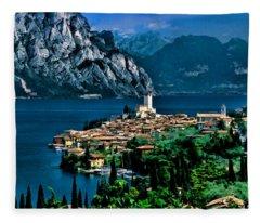 Lake Garda Fleece Blanket