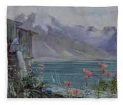 Lake Geneva Fleece Blanket