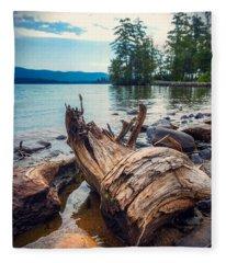 Lake George Palette Fleece Blanket