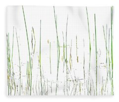Lake Grass Fleece Blanket