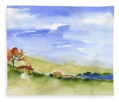 Lake Homes Fleece Blanket