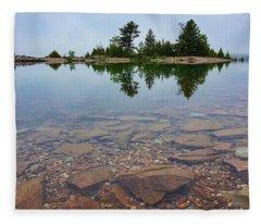 Lake Huron Island Fleece Blanket