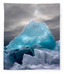 Lake Ice Berg Fleece Blanket