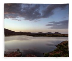 Fleece Blanket featuring the photograph Lake In The Wichita Mountains  by Todd Aaron