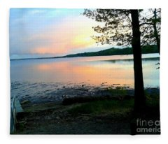 Lake In Virginia Fleece Blanket