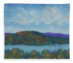 Lake Mahkeenac Fleece Blanket