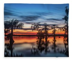 Lake Martin Sunset Fleece Blanket