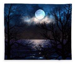 Lake Midnight Fleece Blanket