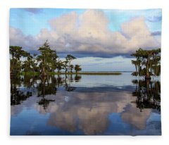 Lake Mirror Fleece Blanket