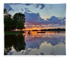 Lake Murray Sc Reflections Fleece Blanket