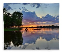 Lake Murray Sc Reflections Fleece Blanket