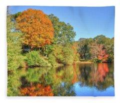 Lake Noquochoke, Dartmouth, Ma Fleece Blanket