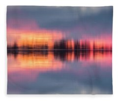 Lake Norman Sunset Fleece Blanket