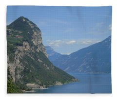 lake of Garda Fleece Blanket