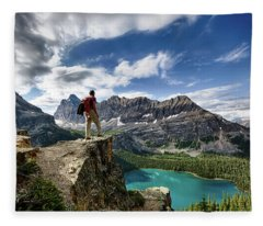 Lake O'hara Adventure Fleece Blanket