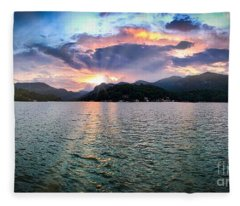 Lake Solstice Fleece Blanket