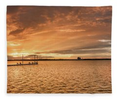 Lake Sunset Fleece Blanket