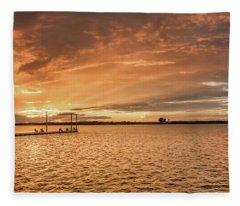 Lake Sunset Fleece Blanket